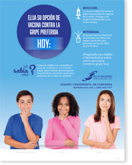 Choose Your Preferred Flu Option - Spanish (Español) Poster