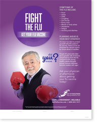 Fight The Flu - Senior Male English Poster