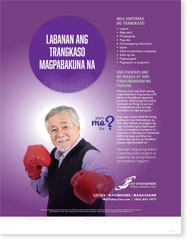 Fight The Flu - Senior Male Tagalog Poster