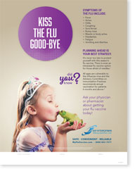 Kiss The Flu Goodbye - English Poster