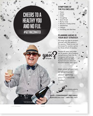 Cheers To A Healthy You and No Flu (New Year's) - Senior Poster