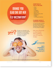 Orange You Glad She Got Her Flu Vaccination - English Poster