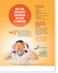 Orange You Glad She Got Her Flu Vaccination - Tagalog Poster