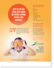 Orange You Glad She Got Her Flu Vaccination - Vietnamese (ngôn ngữ Việt nam) Poster