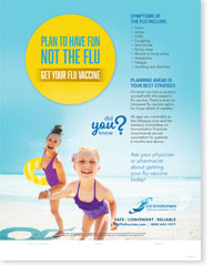 Plan to Have Fun, Not The Flu - Family English Poster