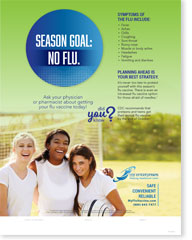Season Goal: No Flu - Adolescent English Poster