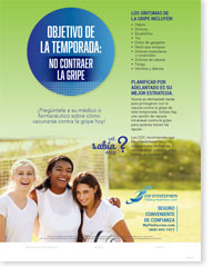 Season Goal: No Flu - Adolescent Spanish (Español) Poster