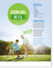 Season Goal: No Flu - Family English Poster