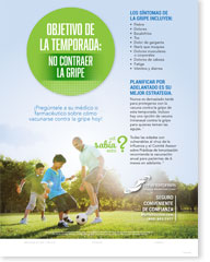 Season Goal: No Flu - Family Spanish (Español) Poster
