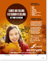 Leaves Are Falling Flu Season is Calling - Adolescent English Poster