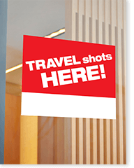 Travel Vaccines - Window Decal